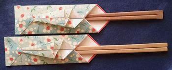 市販の割りばしもオリジナルの箸袋に入れるだけで高級感がアップします。