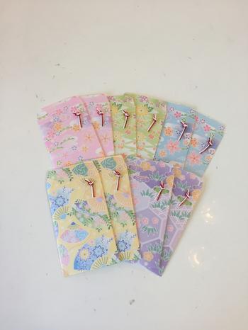 お年玉に大活躍のポチ袋。こんなに可愛いポチ袋なら、大人でも欲しくなっちゃいますね。