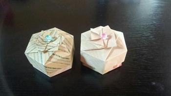 こんなに素敵な飾り箱も千代紙で折れるんです。