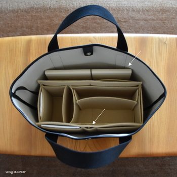 バッグの中身をスッキリさせるためには、小物たちの居場所を決めること。そのために活躍するのが、オーガナイザーやバッグインバッグです。