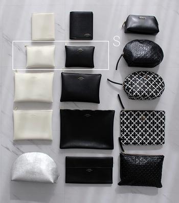 用途や入れたいものに応じて、サイズや厚み、材質などもしっかり使い分け。