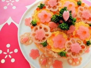 ちらし寿司に添えれば、春満開な雰囲気に♪