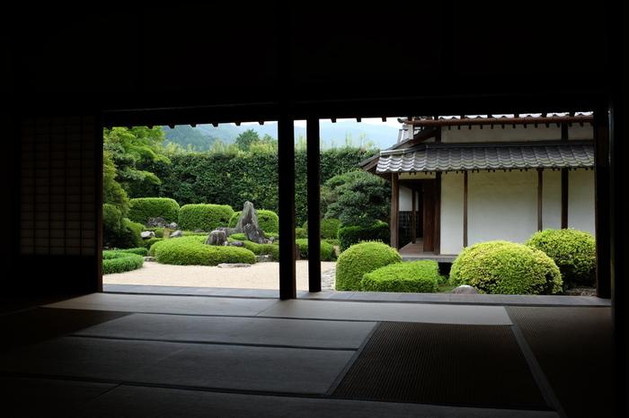 【画像は、枯山水庭園として名高い「頼久寺」。】