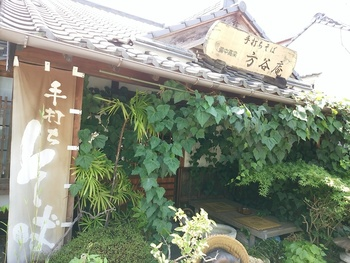 紺屋川美観地区そばの「方谷庵」は、高梁で一番人気の手打ちそば店。