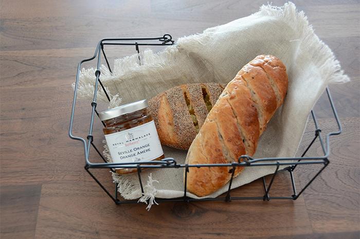朝食のディスプレーとして使うのもオシャレ!いつもと違った朝食気分が楽しめそうですね♪