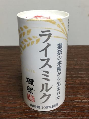 山口県・旭酒造が世界に誇る銘酒「獺祭(だっさい)」。こちらのライスミルクは、獺祭の米粉(山田錦)と水だけで作った、注目のライスミルク。通販でも買うことができます。