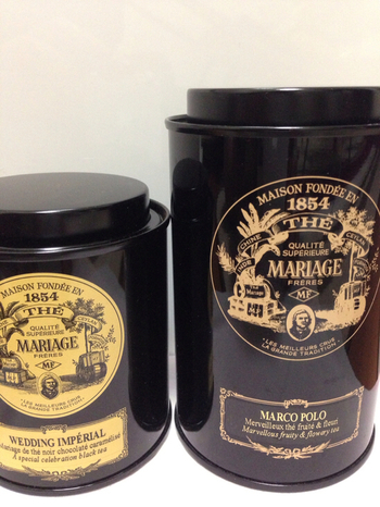 結婚式のおくりものにも!こちらは紅茶の名前にもウェディングとあるので、結婚式には最適です。