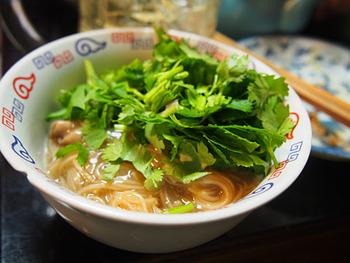 こちらでは大腸麺線が食べられます。たくさんの台湾家庭料理の中でも、家庭料理の代表格なのが『麺線』。喜来楽ならではの家庭的な店内で食べれば、もっと台湾が大好きになる♪