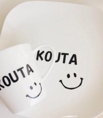 アルファベットのシールでお名前を入れてあげることで、自分専用のマグカップを持てたことへの喜びやモノへの愛着が湧いてきますよね。