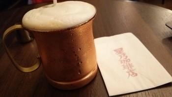 アイスコーヒーやアイスカフェ・ラテは、夏に嬉しいヒンヤリさが続く熱伝導率の高い銅製のカップで。