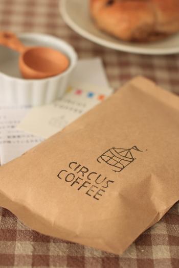 コーヒーを購入すると、こんなかわいい袋に入れてくれます。