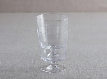 ワイングラスというとあまり使用頻度はないながら、収納にも困ることが多いですよね。こちらはスタッキング出来るという事でそんな悩みも解決してくれるかも!