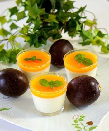 パッションフルーツの実から、美味しさの詰まったシロップが作れます!ヨーグルトとの相性もバッチリ!