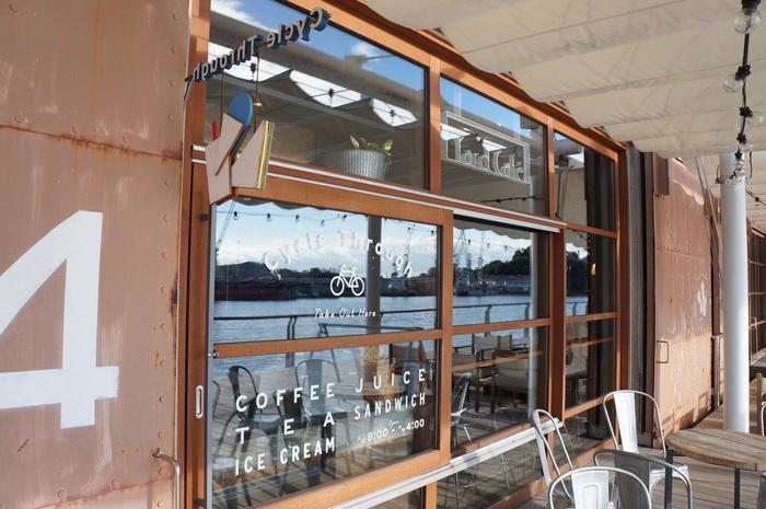 「YardCafe」には、Cycle Through(サイクルスルー)が設けられています。サイクリストは、水や食事をここで調達・補給してから出発しましょう。