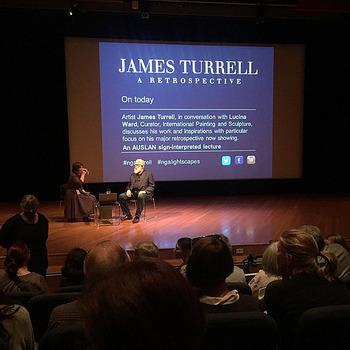 白い髭が特徴的な右側の方がジェームズ・タレル(James Turrell)さん