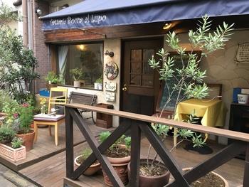 最初にご紹介するのは、食通さんにも評判のイタリアン「ボッカ・ルーポ」。早稲田通り側の商店街入口からほど近く、小さな曲がり角を曲がった道の先にひっそりと佇む、秘密の隠れ家の様なお店です。