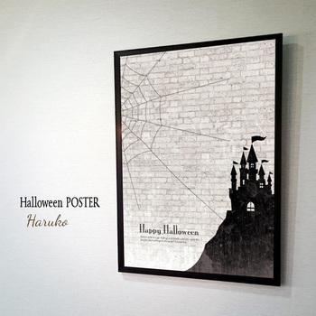 入れ替えが簡単なポスターでハロウィンコーナーを作ってみると、短い期間でも気軽にアレンジすることができます。