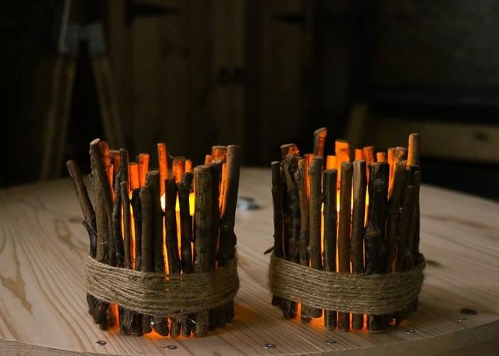 ライトを付けたらこんな感じ。温かな光がとても綺麗ですね。とっても簡単なのでぜひ作ってみてください♪