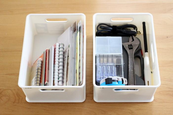 ニトリの魅力のひとつはなんといっても「収納用品」。日本の住宅事情に精通していて、使い勝手よい大きさのボックスやカゴがあります。「見せる収納」も「隠す収納」も得意です。