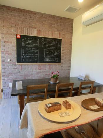 カフェスペースもあり、ゆったり美味しいパンと飲み物を楽しめます。