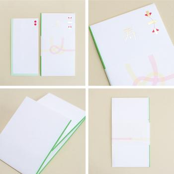 グラフィックデザイナーの田部井美奈さんデザインのご祝儀袋は、結婚式やパーティーなどでお渡しすれば、間違いなくきらりと光るセンスの良さを感じます。