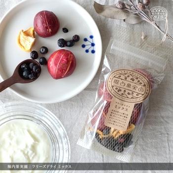 ブルーベリーのドライフルーツなら手軽につまめちゃう。濃密な味わいは自然の旨味たっぷり。