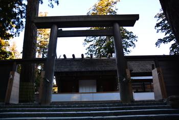内宮には、天照大御神をお祀りする皇大神宮があります。