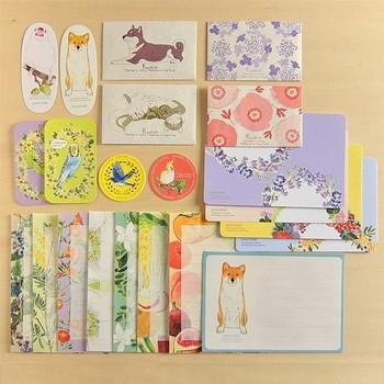 ポチ袋やメッセージカードなど、小さなペーパーアイテムが詰まったうれしいセットです。愛らしくどこかほっと和む植物や動物の柄は、大人はもちろん、お子さんにも年配の方にも人気だそう。