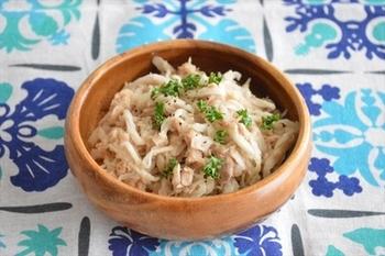 切干大根だってこの通り! 切干大根のレシピがいつもワンパターンになってしまう人にはとってもおすすめのレシピです。