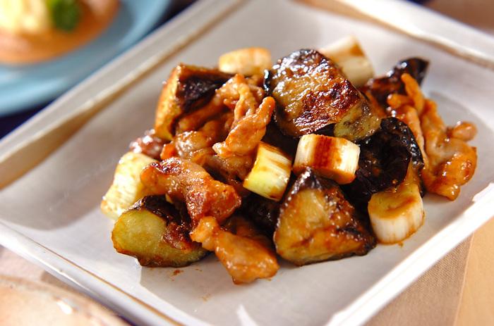 ナスとネギの味噌炒めは暑い夏にもぴったり。 同じくナスと相性の良いしそを刻んでのせても◎。