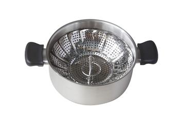 使い方はこんな感じです。ひとり暮らしや収納が少ない方には是非お勧めしたい蒸し器ですよ。この蒸し器も使う時も、最初にご紹介したステンレスと同様に、鍋に布巾や手ぬぐいなど布製のもので包んでフタをしたほうが美味しく蒸しあがります。
