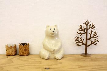 白樺のかごや木製品とも相性抜群。 ほっこり北欧テイストが楽しめます。