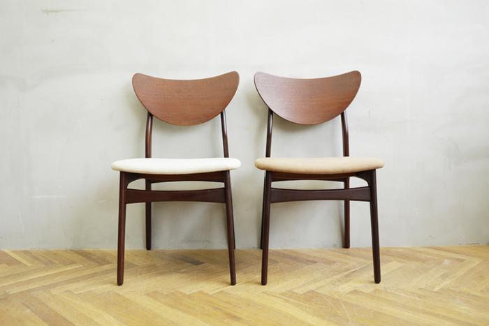 人が椅子に思いを馳せるのは、もしかしたら人生の苦楽をともにし、生涯寄り添ってくれる家具の1つだからなのかもしれません。疲れた身体をゆったりと受け止めてくれる、身体にしっくりくる…そんな心地良さと好みのデザインの融合。愛すべき椅子に出会えたら最高ですよね。この時代のデザイナーたちにとっても大切なコンセプトだったのではないでしょうか。