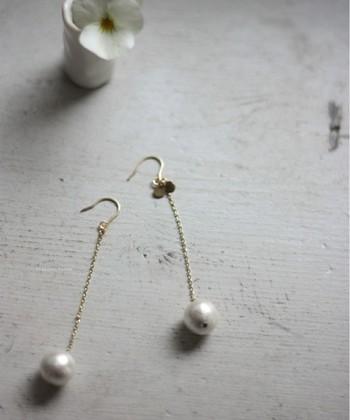 まずは、コットンパールの魅力についてお伝えします♪普通の真珠にはない、コットンパールのメリットとはなんでしょう?