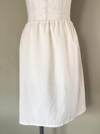 スカートの透け防止に欠かせないペチコートもオーガニックコットンでストレスフリーに♪