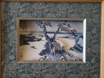 葛飾北斎の富嶽百景。江戸時代に遠近法を取り入れた画家として有名な北斎ですが、こうしてシャドーアートにするとより迫力が増しますね。