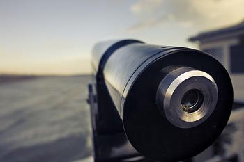 湿地や湖の対岸など、より遠くの鳥を観察するには望遠鏡が便利です。自然公園やネイチャーセンターには望遠鏡を設置しているところもあるので、まずはそちらで見てみるのがおすすめ。視野を安定させるために三脚をとりつけて固定する必要があるので、素早く動く鳥を追いかけるには向きません。