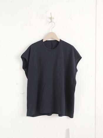 身幅が広くゆったりして見えるティーシャツですが、実際に着てみると・・・?