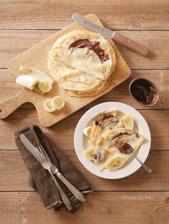 バターや小麦粉があれば、本場フランス風のクレープもオススメです。もちもちの食感にするコツは、冷蔵庫でしっかり寝かせること。キッチンのお掃除を始める前に準備しておくとよさそうですね☆