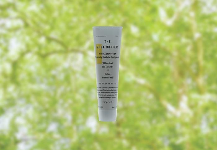 お肌にのばすとスーッとオイルのように溶ける、100%天然成分の「THE」のなめらかなオーガニックシアバター。自然のシアの木から採れる種子から作られているので、毎年数量限定で生産されています。紫外線を吸収する成分を含んでいるので、日焼け止めの効果もあるそう。お肌が敏感な方にも優しいシアバターです。