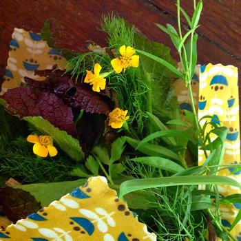 食品の保存だけではなく、花を包むのもおまかせ。よりいっそう華やかな雰囲気に仕上がります。