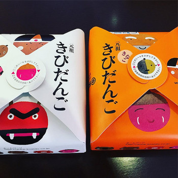 パッケージは、絵本作家の五味太郎のデザイン。廣榮堂オリジナルのマスキングテープも人気です。美観地区には「倉敷店」と「倉敷雄鶏店」の2店舗があります。