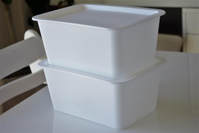こちらのスクエアボックスは蓋付きで100円!実用的かつリーズナブルで何個でも欲しくなりますね! 収納ボックスはいくつあっても困らないですよね。