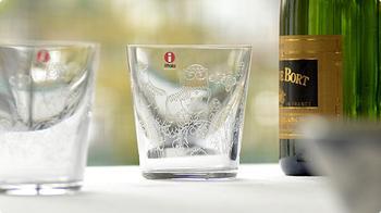 クリアガラスに、エッチングという手法で描かれた繊細な模様がとっても素敵。iittala(イッタラ)の人気シリーズTaika(タイカ)のグラスです。