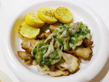 塩きのこを使った、とろみのある和風ソース。鶏肉や白身魚などにおすすめ。パスタのソースなどにもどうぞ。