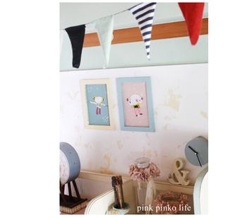 市販のポスター顔負けのインテリアになりました。子供部屋はもちろん、キッチンやリビングなど、どこに飾っても素敵です。
