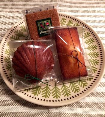 フィナンシェにマドレーヌ…どの焼き菓子も可愛くておいしそうで、迷ってしまいます。