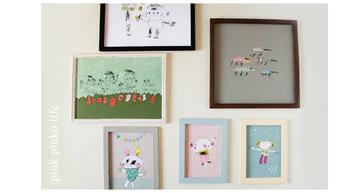「子どもがお絵描きした作品をたくさんとっておきたい」「せっかくだからおしゃれに飾りたい」という親心やお悩みには、こちらのアイデアはいかがでしょう?どれもとっても可愛いですよね。