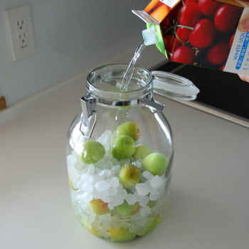 熱湯消毒もしくはアルコール消毒した保存瓶に、青梅と氷砂糖を交互に2~3段入れ、最後にホワイトリカーを注ぎます。あとは冷暗所に保存するだけ!