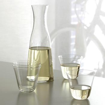 創業1910年の木村硝子店のグラス。なめらかな曲線が美しいベッロシリーズは、口当たりの良さが格別です。